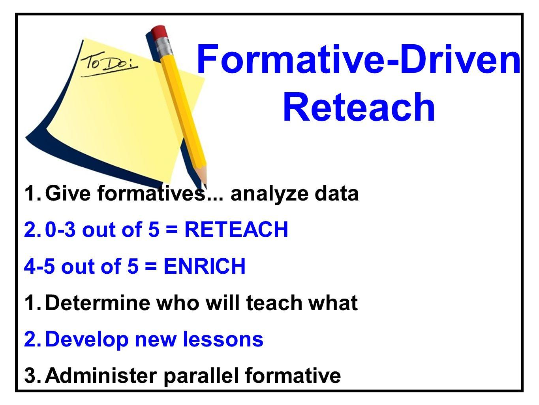 Formative-Driven Reteach