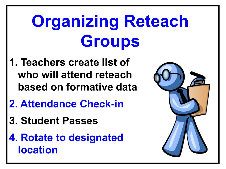 Organizing Reteach Groups