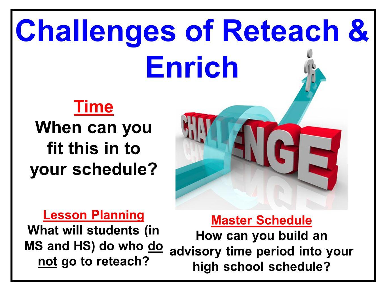 Challenges of Reteach & Enrich