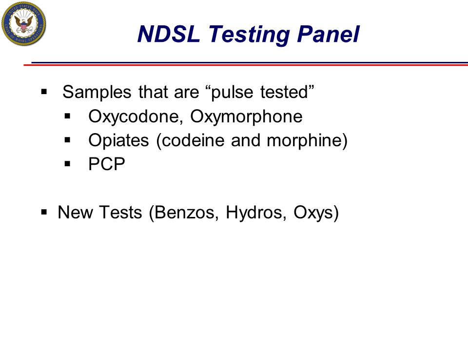 NDSL Testing Panel Samples that are pulse tested