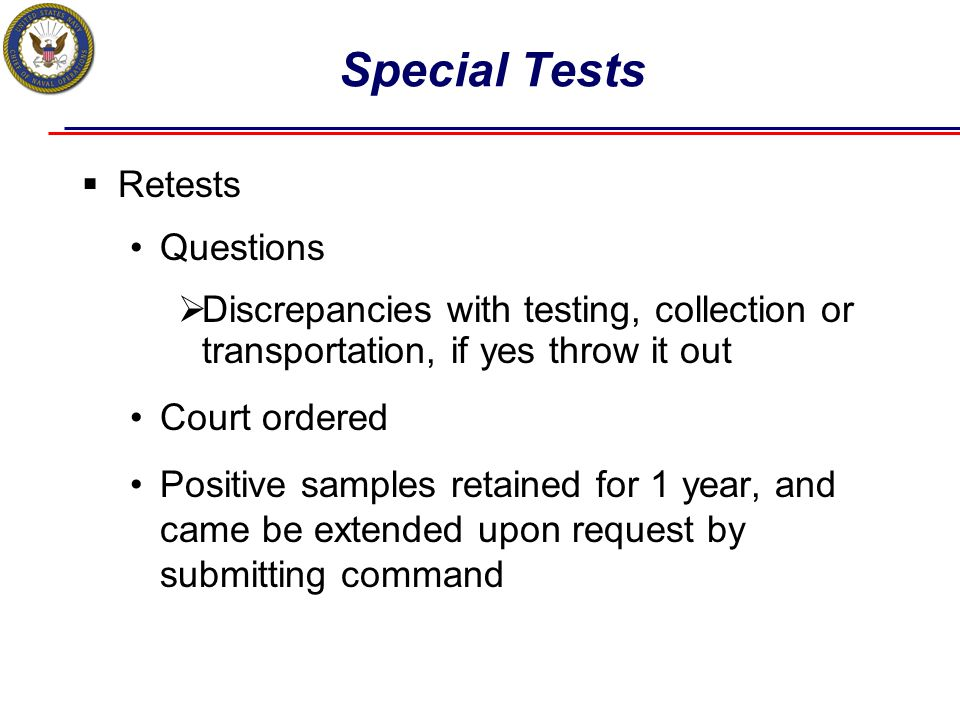 Special Tests Retests Questions