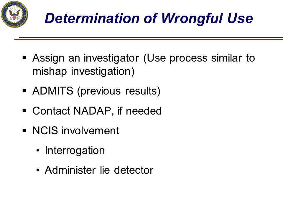 Determination of Wrongful Use