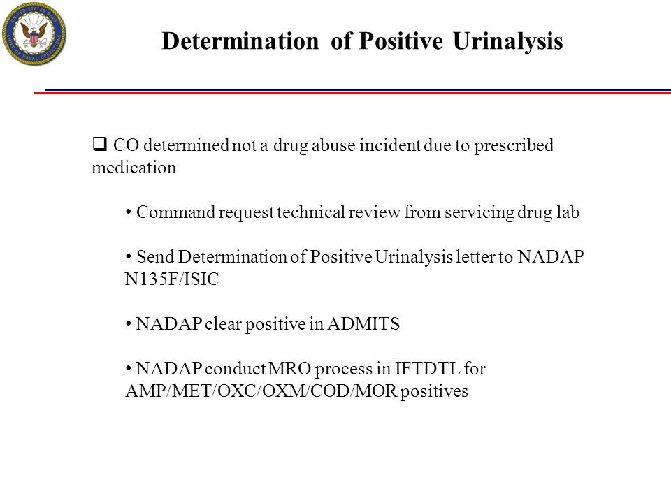 Determination of Positive Urinalysis