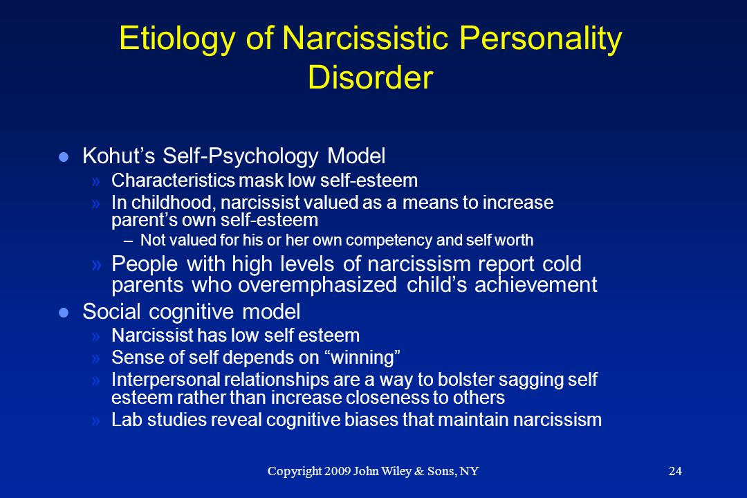 Etiology of Narcissistic Personality Disorder