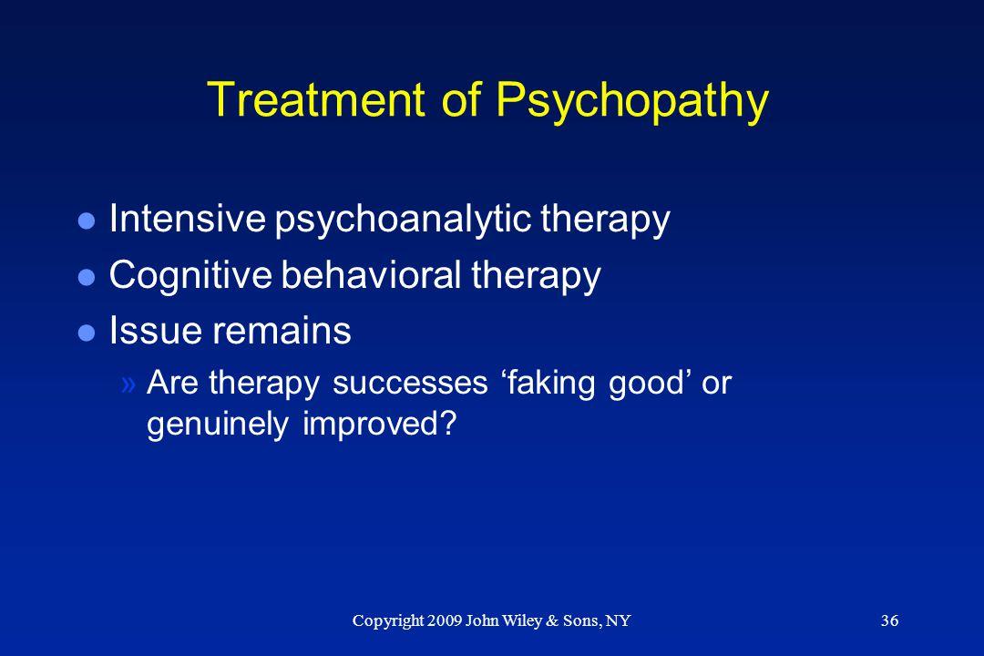 Treatment of Psychopathy
