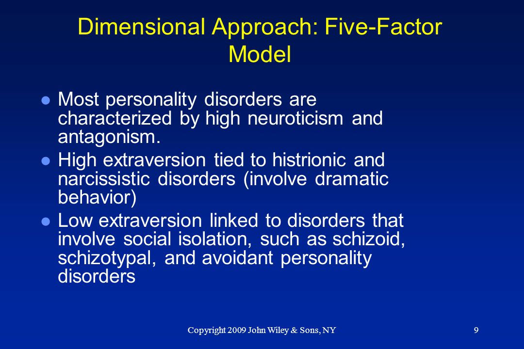 Dimensional Approach: Five-Factor Model