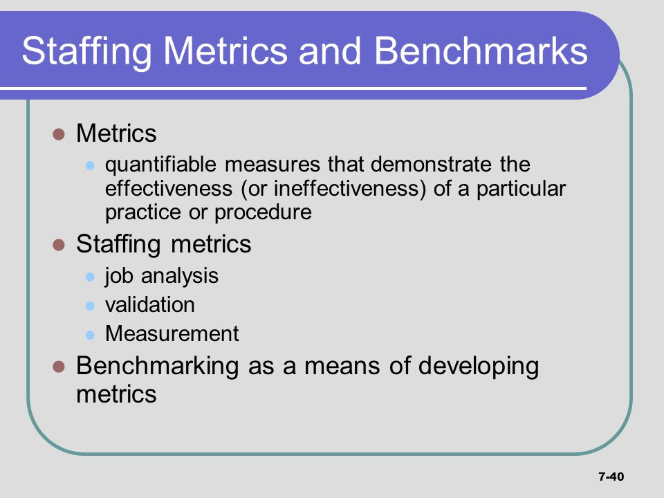 Staffing Metrics and Benchmarks