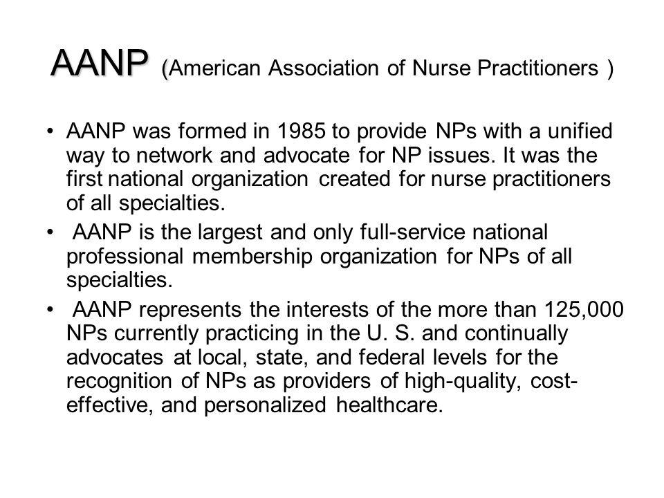 AANP (American Association of Nurse Practitioners )
