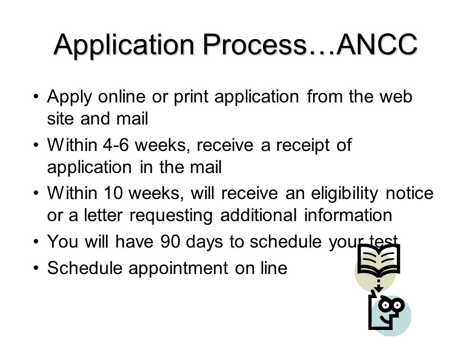 Application Process…ANCC