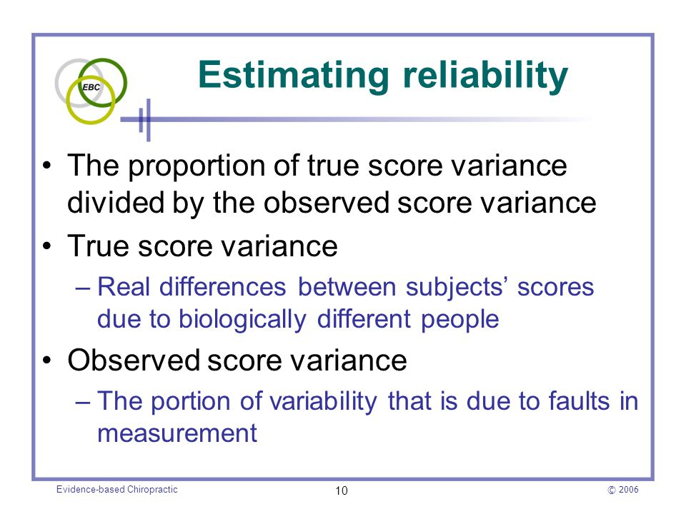 Estimating reliability