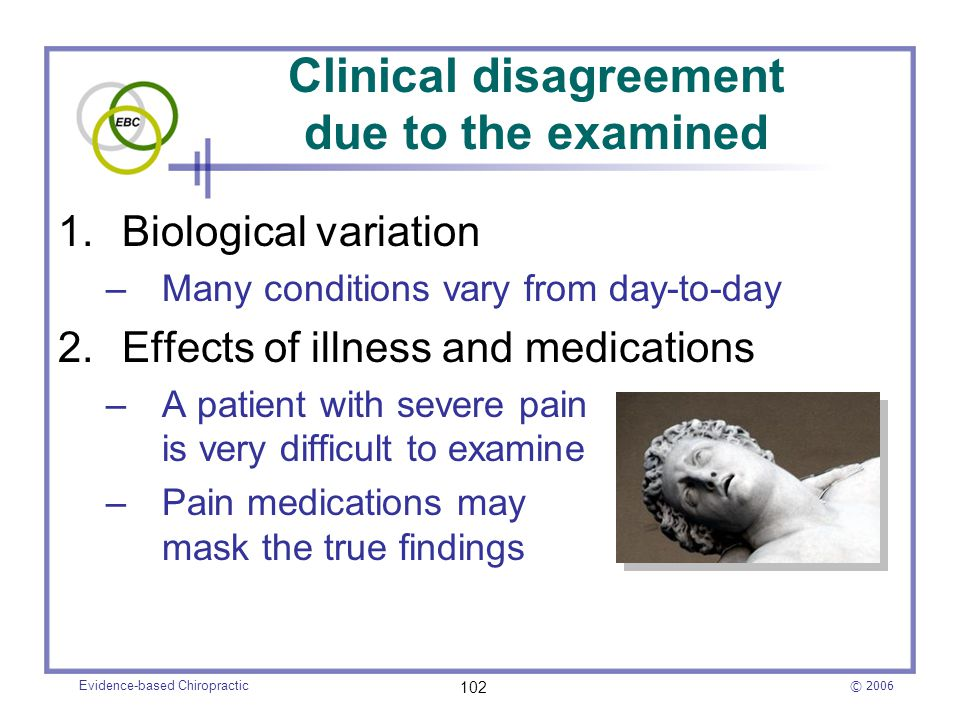 Clinical disagreement due to the examined