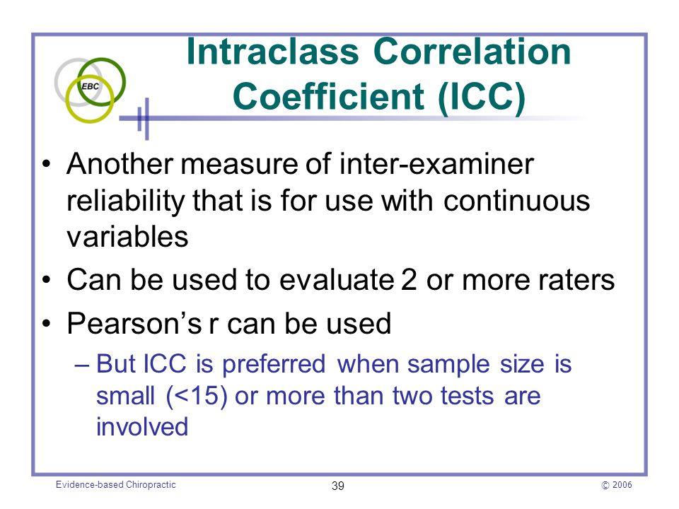 Intraclass Correlation Coefficient (ICC)