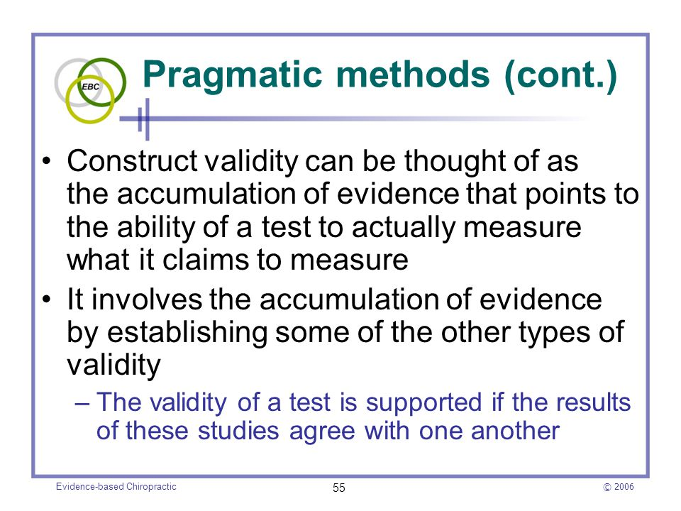 Pragmatic methods (cont.)