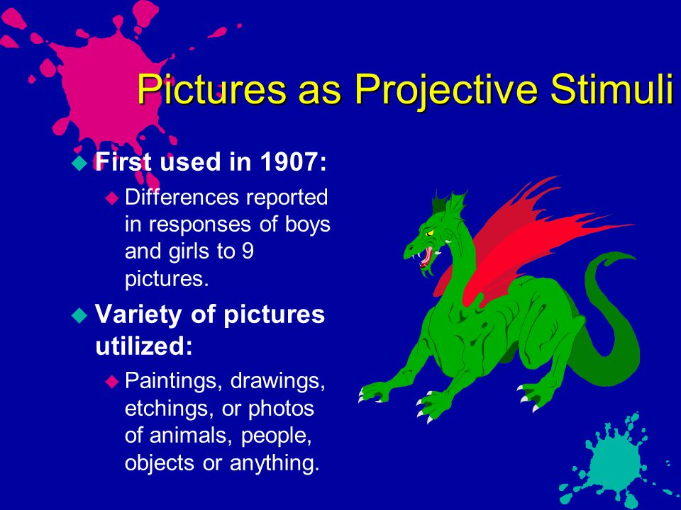 Pictures as Projective Stimuli