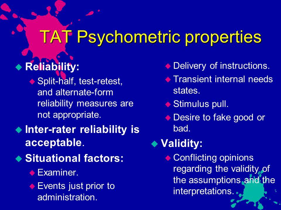 TAT Psychometric properties