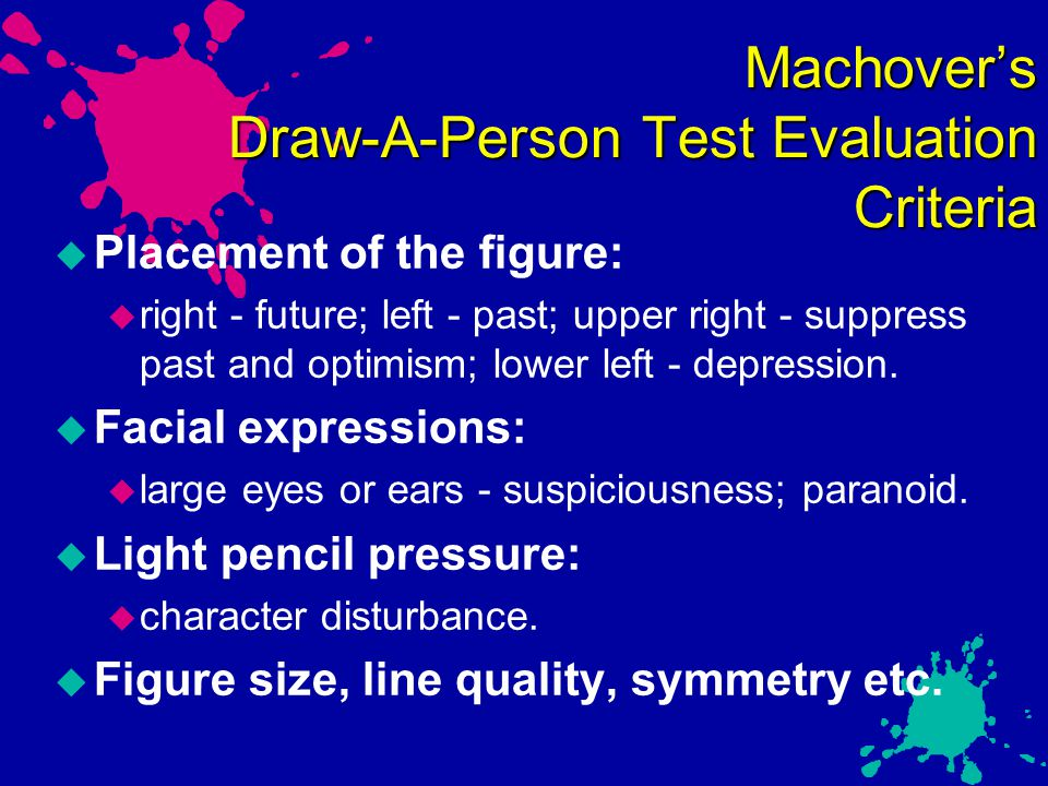 Machover's Draw-A-Person Test Evaluation Criteria