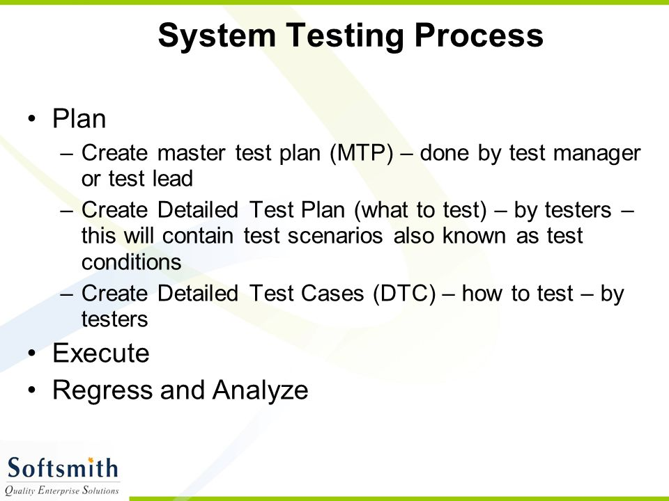 System Testing Process