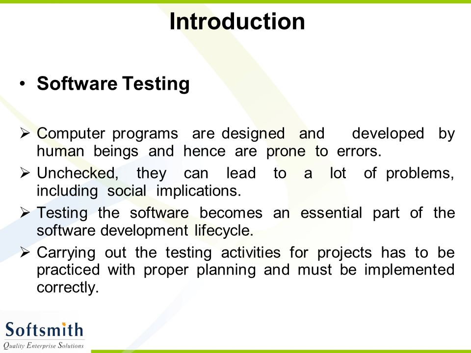 Introduction Software Testing