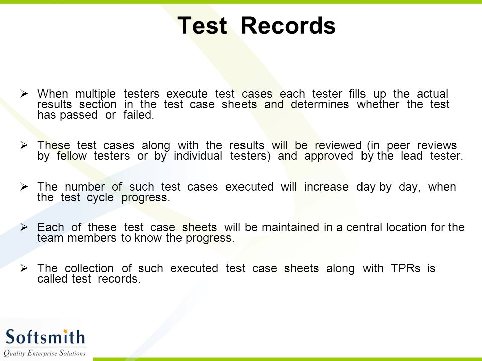 Test Records