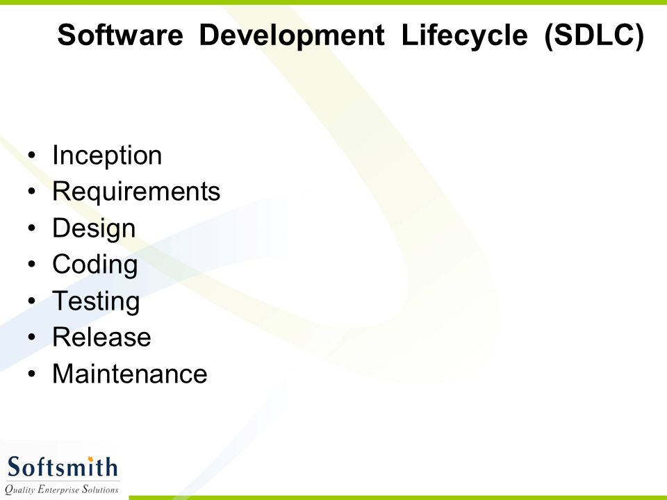 Software Development Lifecycle (SDLC)