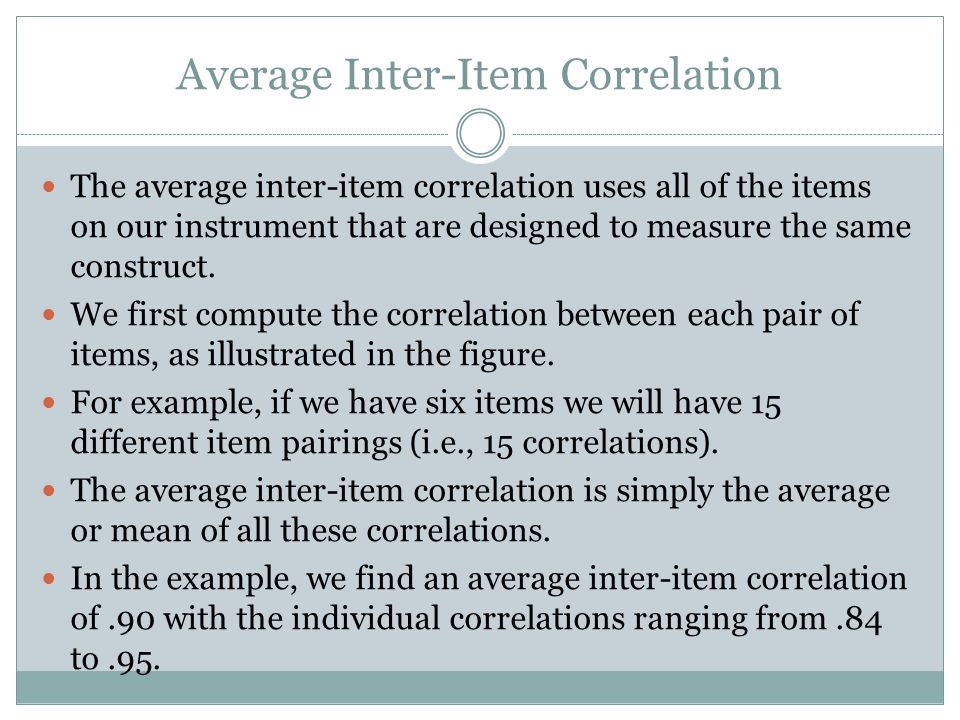 Average Inter-Item Correlation