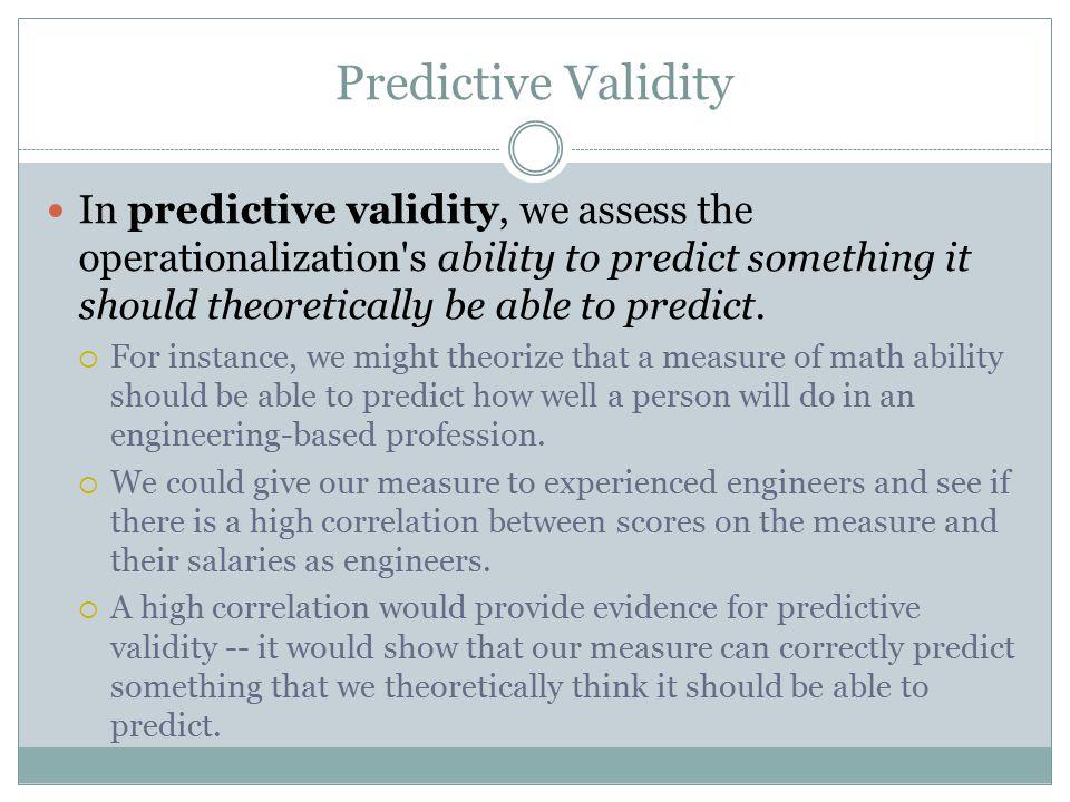 Predictive Validity