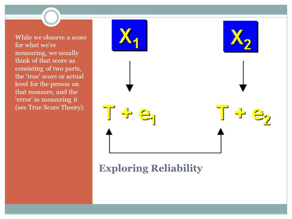 Exploring Reliability