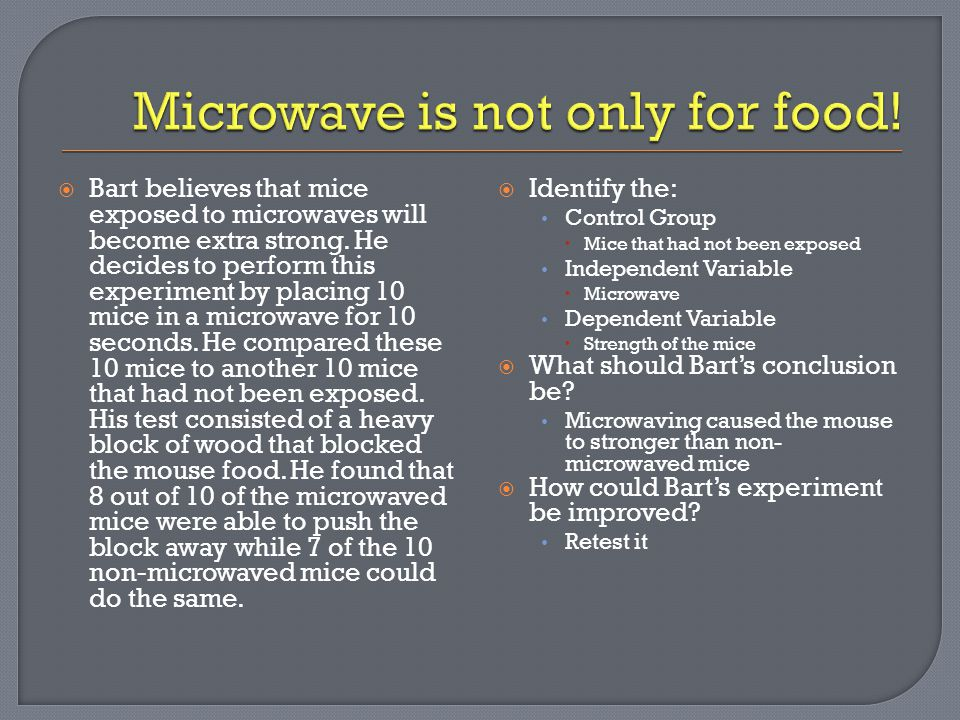 Microwave is not only for food!