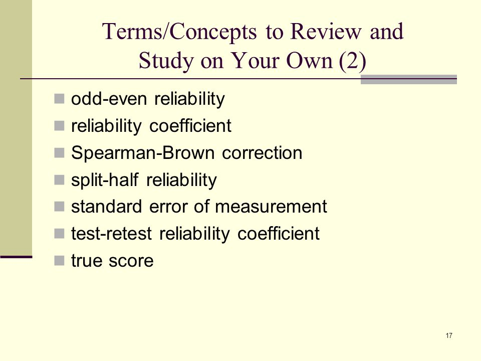 Terms/Concepts to Review and Study on Your Own (2)