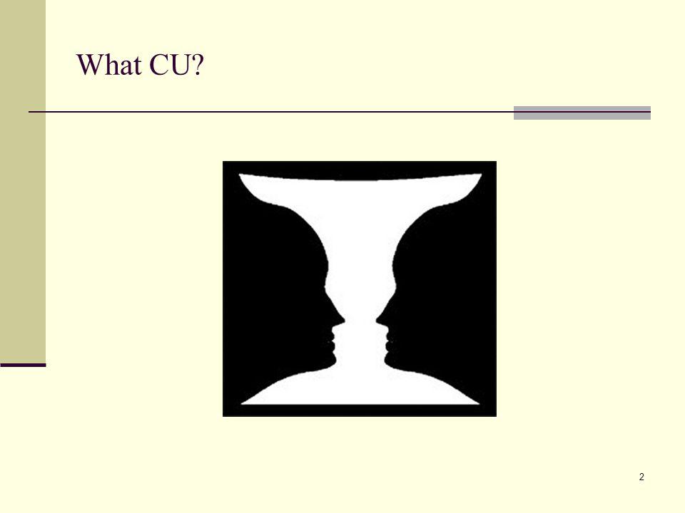 What CU
