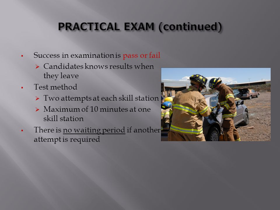 PRACTICAL EXAM (continued)