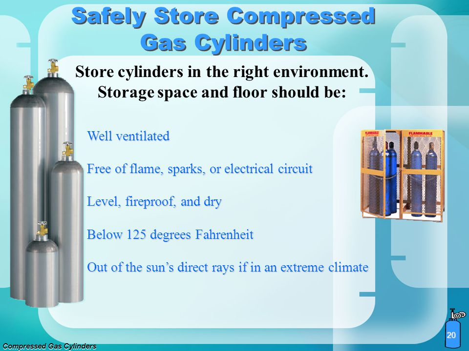 Safely Store Compressed Gas Cylinders