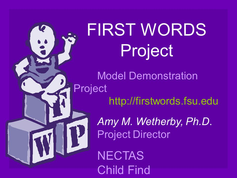 FIRST WORDS Project NECTAS Child Find Teleconference