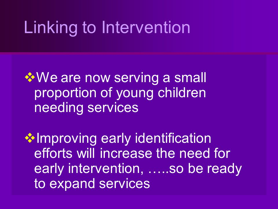 Linking to Intervention