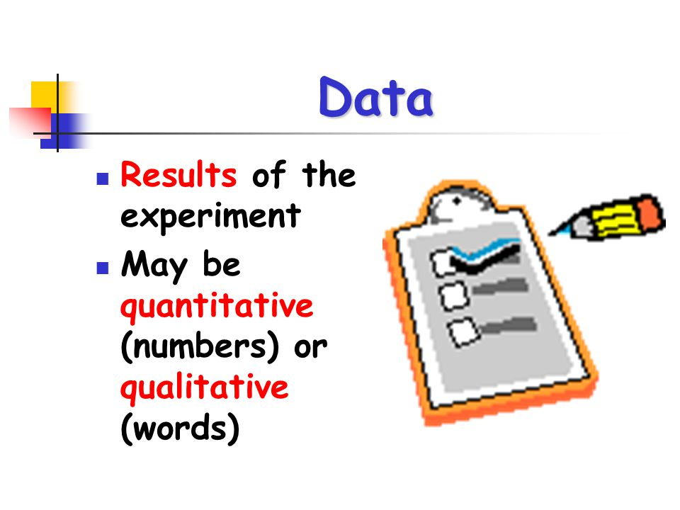 Data Results of the experiment