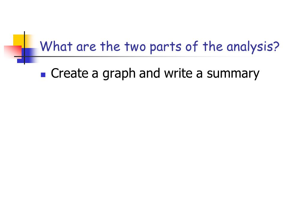 What are the two parts of the analysis