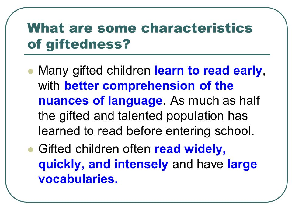 10 Characteristics of Gifted Children