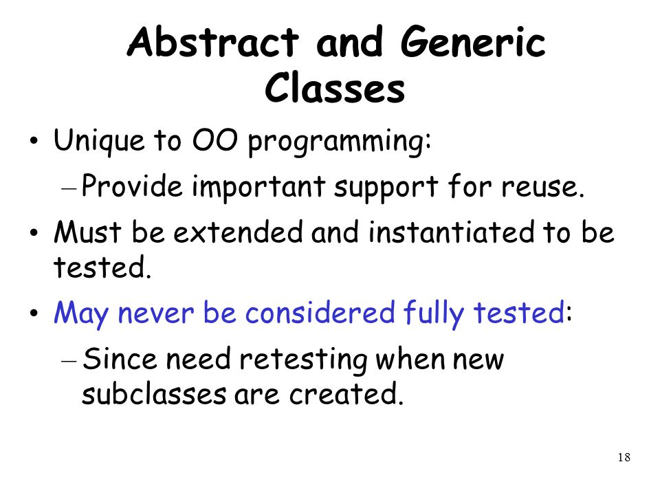 Abstract and Generic Classes
