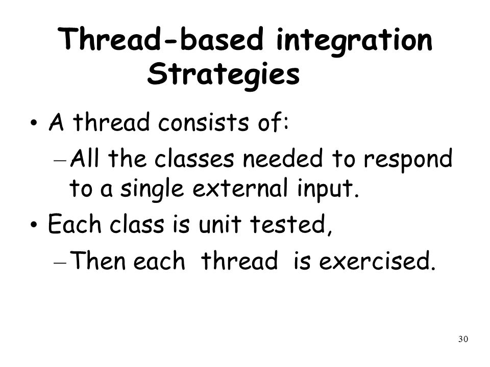 Thread-based integration Strategies