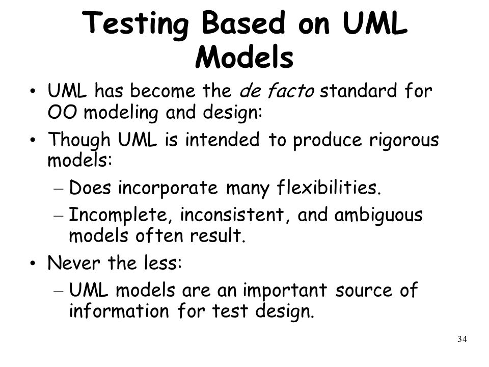 Testing Based on UML Models