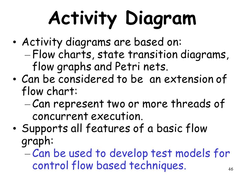 Activity Diagram Activity diagrams are based on: