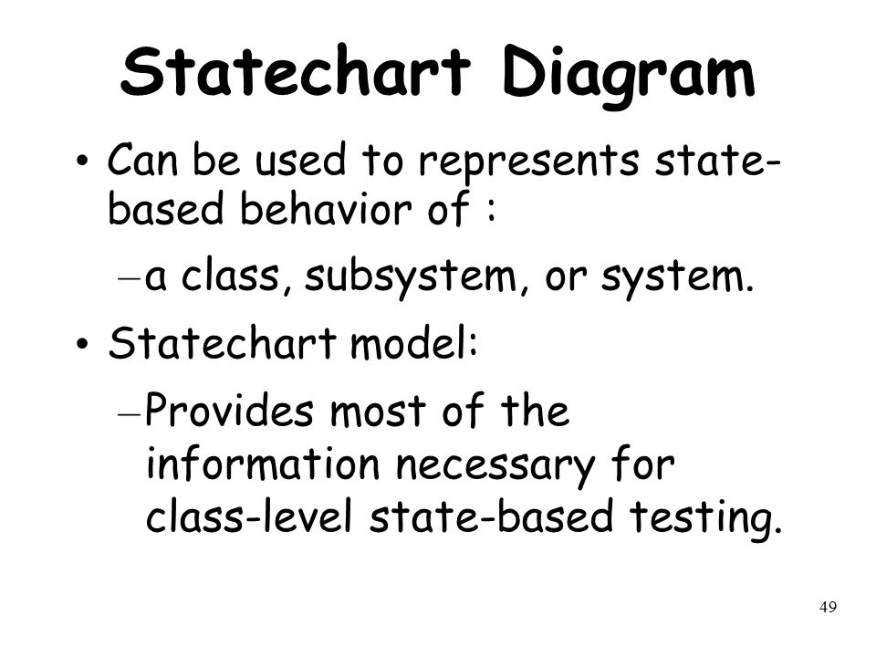 Statechart Diagram Can be used to represents state-based behavior of :