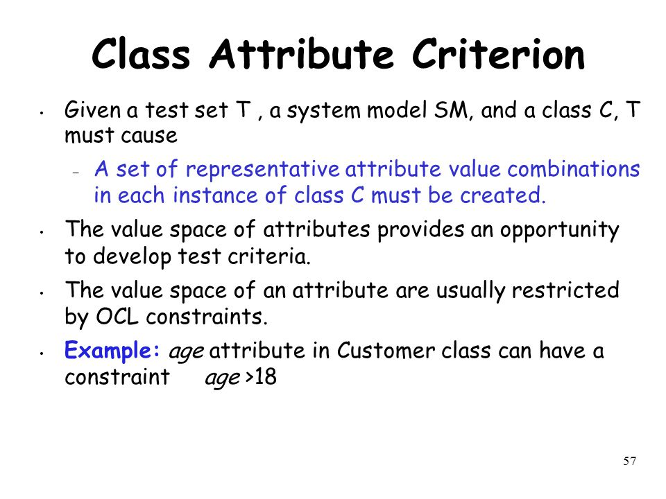 Class Attribute Criterion