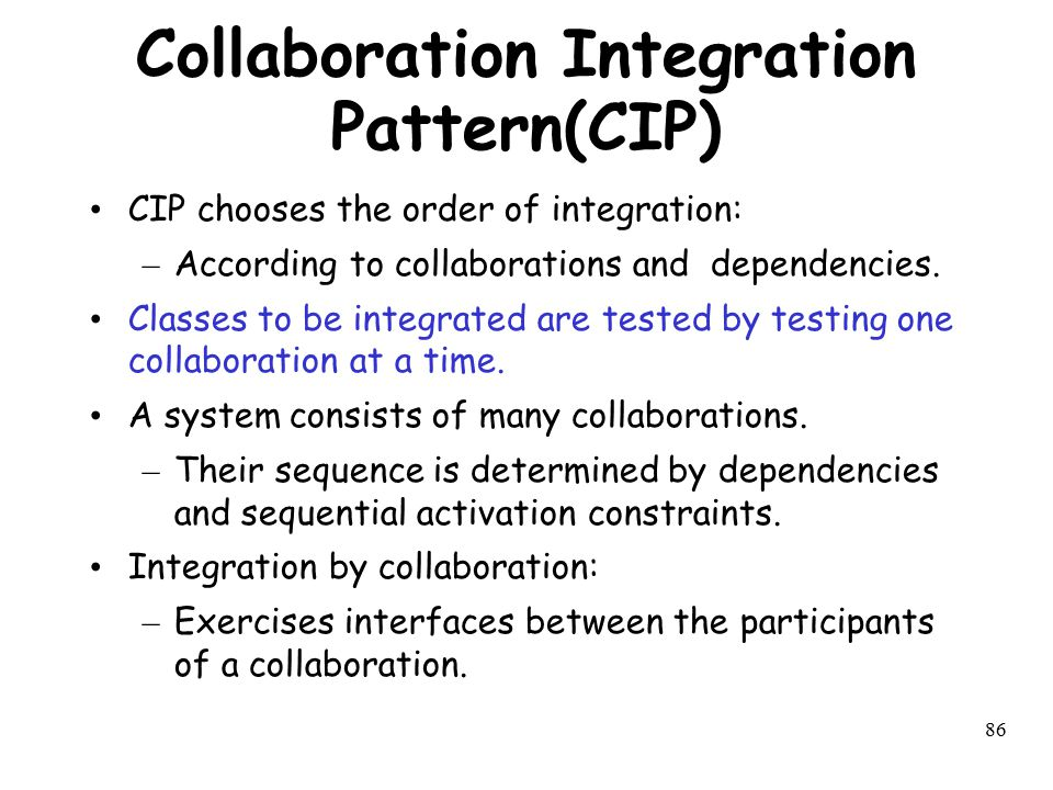 Collaboration Integration Pattern(CIP)