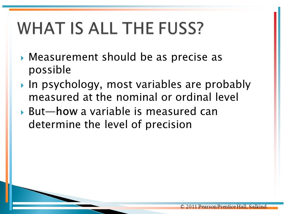 WHAT IS ALL THE FUSS Measurement should be as precise as possible