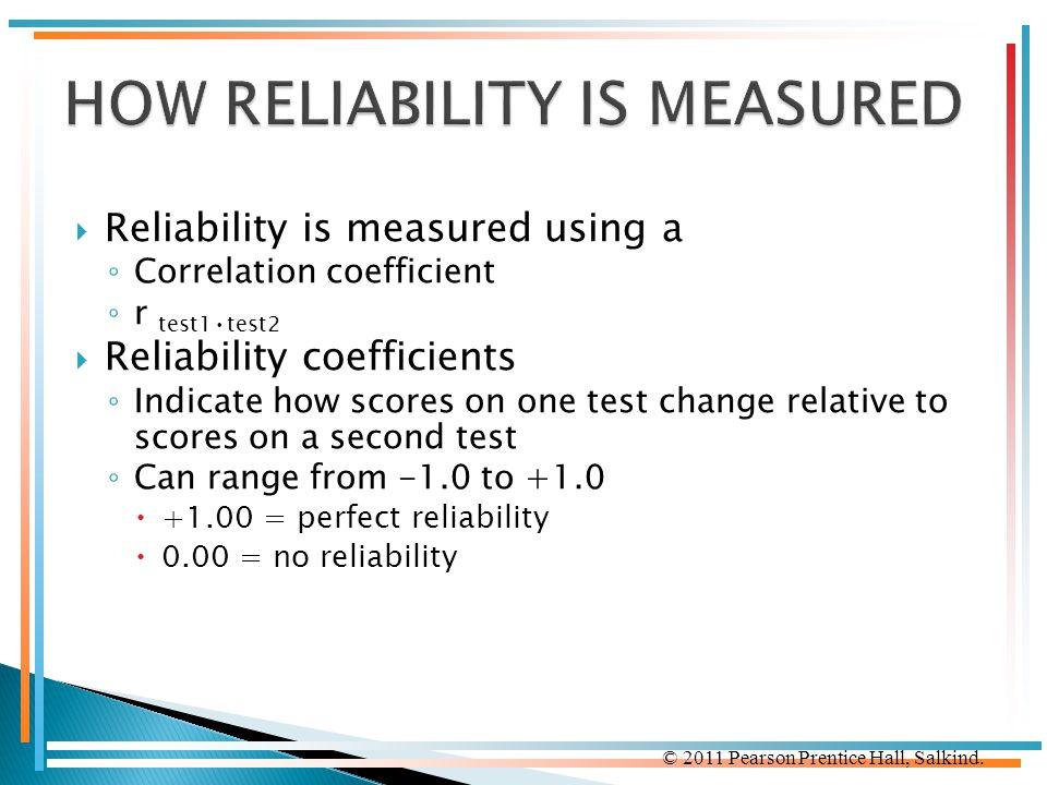 HOW RELIABILITY IS MEASURED