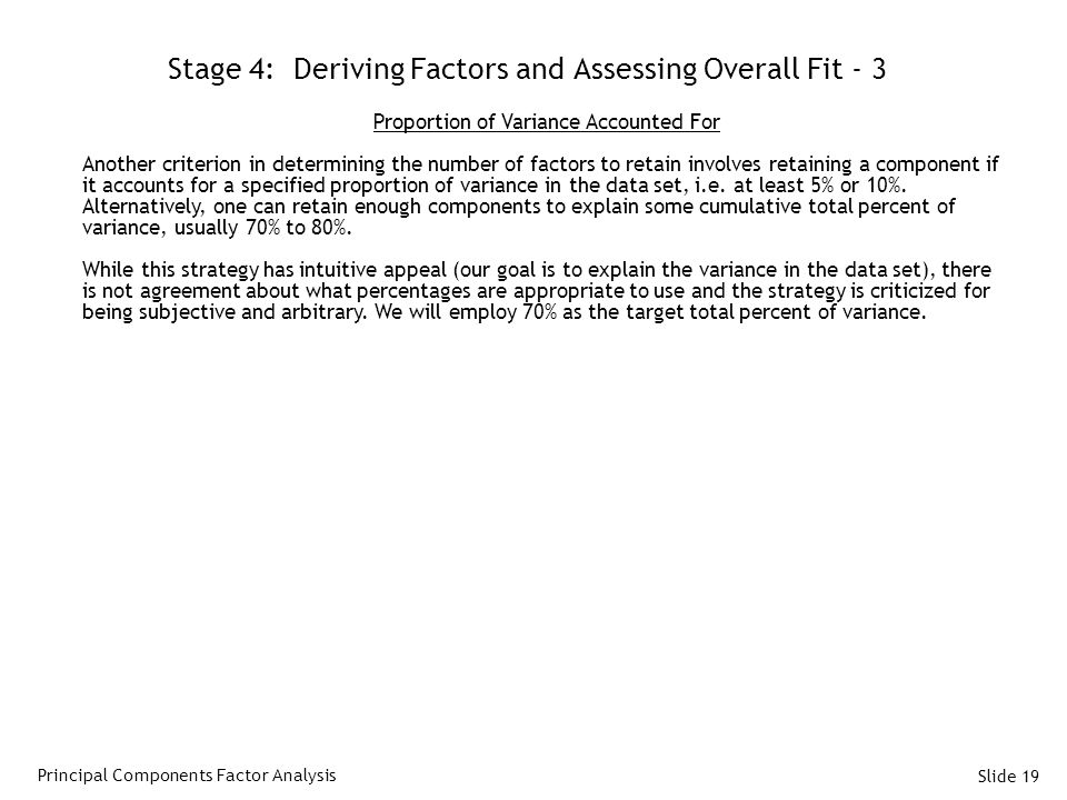 Stage 4: Deriving Factors and Assessing Overall Fit - 3