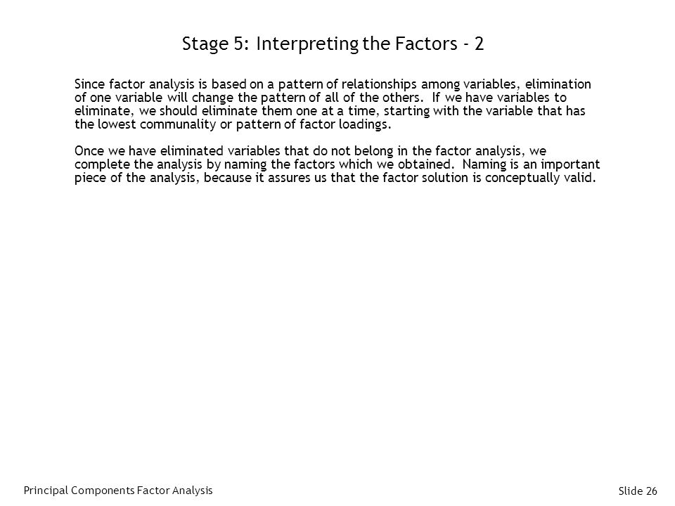 Stage 5: Interpreting the Factors - 2