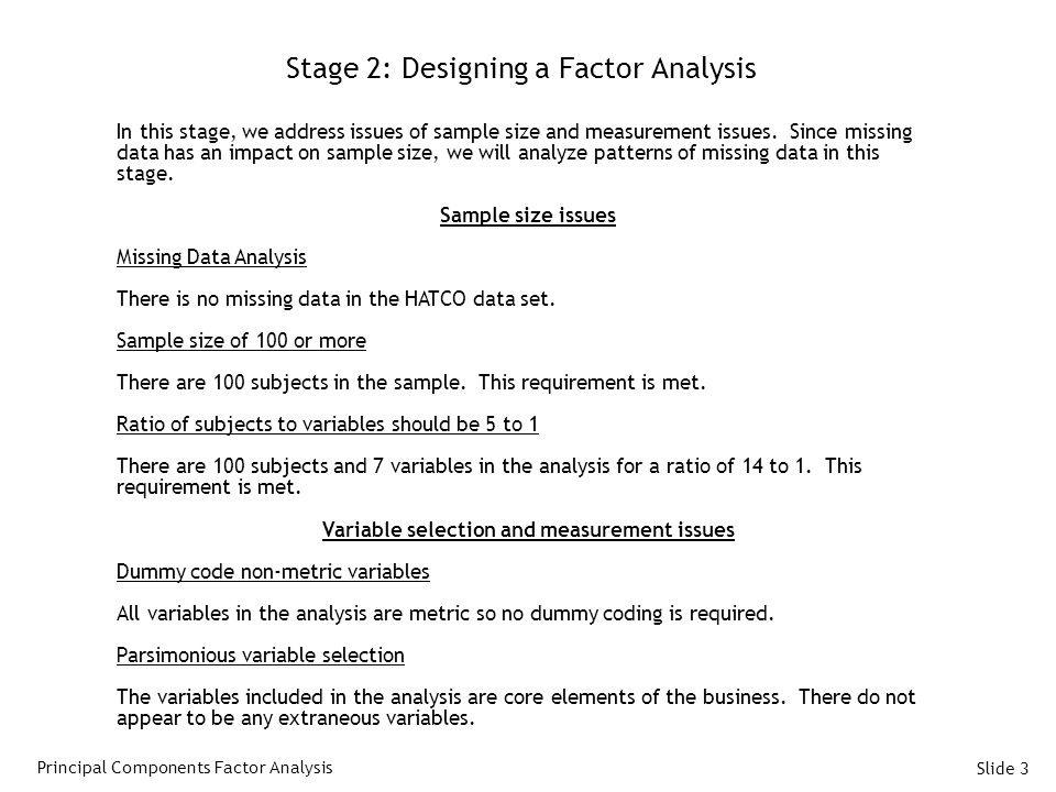 Stage 2: Designing a Factor Analysis