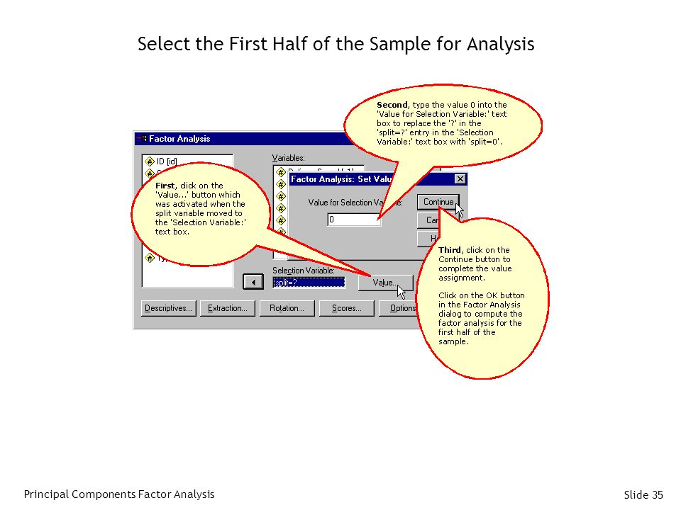 Select the First Half of the Sample for Analysis